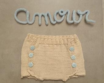 Culotte shorts button