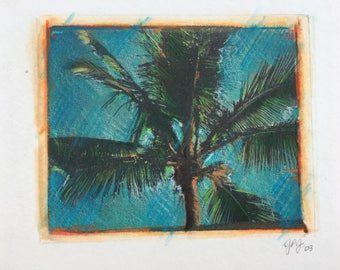 Palm Tree Polaroid Transfer