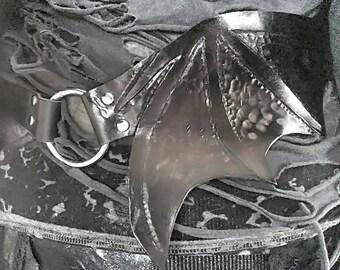 Custom Leather Bat Wing Belt