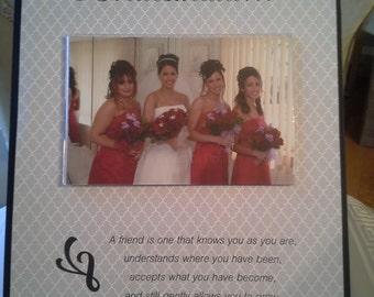 "Custom Wood ""Bridesmaid"" Frame - Maid of Honor or Flower Girl Option"