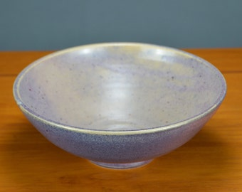 Purple Ceramic Serving Bowl, Hand Thrown Porcelain Pottery, Cereal, Salad, Lavender, Mixing, Unique Gift Mom, Centerpiece | Caldwell Pottery