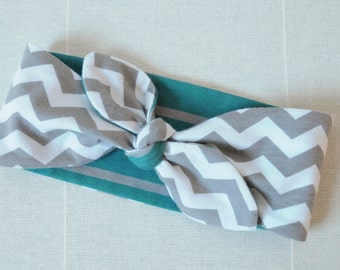 Reversable Girls Knotted Headband