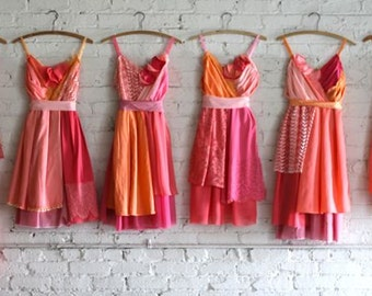 Custom Coral Bridesmaids Dresses
