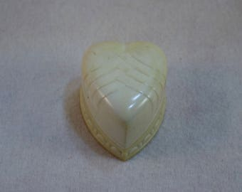 Vintage Celluloid Heart Shaped Ring Presentation Box, Celluloid Ring Box