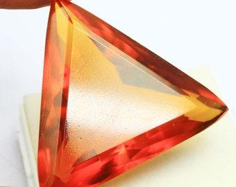 341.55Ct Certified AAA Quality Trillion Cut Brazilian Yellow Citrine Gemstone AU4216