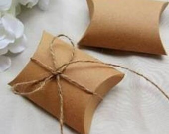 Set of 50 Kraft cardboard present boxes foldable packaging jewelry 9 x 7 x 2, 4cm