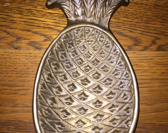 Vintage Brass Pineapple Footed Dish • Taiwan