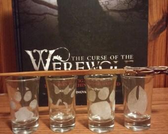 Marauders Engraved Glasses