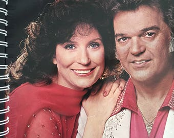 for the Conway Twitty & Loretta Lynn  Classic Country Vinyl Album Cover Notebook