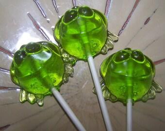 10 Hoppity Frogs Frog Lollipop Lollipops Sucker Party Favor Candy