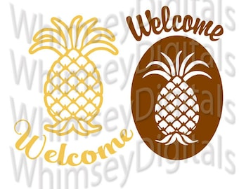Welcome Pineapple Housewarming Digital Download SVG Cut File, Vinyl Cutting Design for Digital Cutting Machines, DIY Gift, MTC