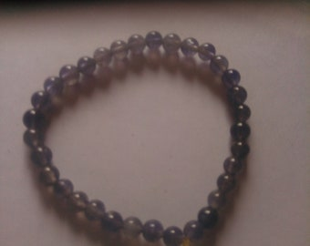 Iolite Grade A 4-5mm stones to fit a 6 inch wrist