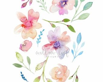 Floral Print, Flower Print, Wall Art , Wall Print, Easter, Watercolor Print, Flower Prints