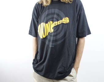 Vintage 1997 MONKEES World Tour Tee - Rare 90s The Monkees Black T Shirt - 60s 70s Singer Artist Tour Shirt Classic Rock - Sz XL VCj32gSyYx