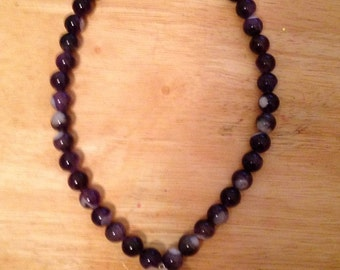 Amethyst and Large Crystal Necklace