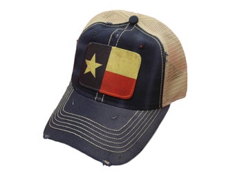 Texas Flag Distressed Trucker Cap