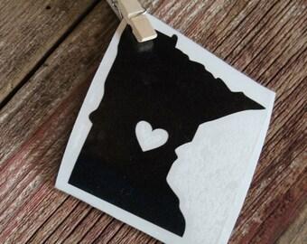 Minnesota,  Minnesota Vinyl Decal, Minnesota Love, Laptop Decal, Laptop Vinyl, Car Decal, Window Decal, Window Vinyl,  Christmas Gift