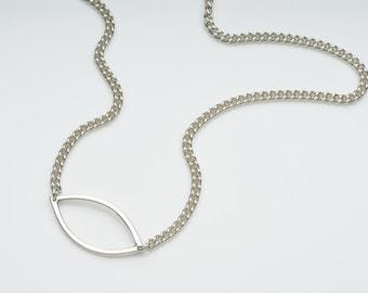 Silver necklace, minimal silver necklace