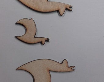 Wooden Alpaca Shapes for Card Making Scrap Booking etc