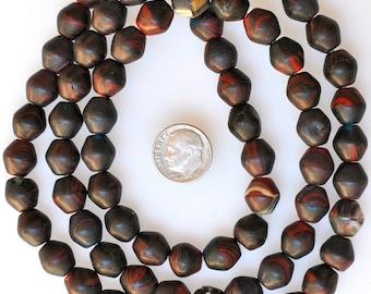 Vintage Czech Glass Kakamba Beads - African Trade Beads - 30 Inch Strand