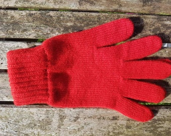 Ladies 2 Ply Scottish Cashmere glove With Gorgeous Ribbed Cuff For Extra Warmth