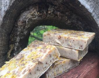 Sweet orange & coffee exfoliating soap