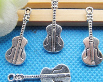 Silver Guitar Charms