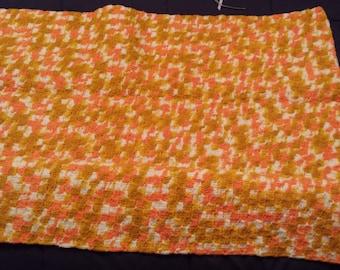 Homemade afghan lap blanket