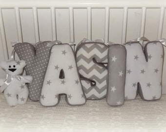 Baby Letter Pillow Wish name nests fabric Letter Baby Pillow