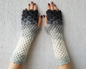 Fingerless Gloves Crocheted mittens Women gloves Winter gloves, arm warmers, wrist warmers