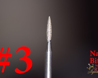 "Diamond Nail Bit ""Flame #3"" - 1.6mm"