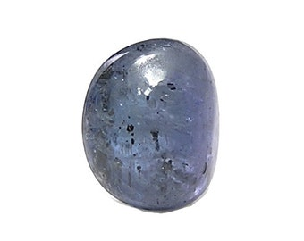 Tanzanite Sapphire Blue Zoisite Semiprecious Mineral Gemstone, Tumble Polished Semi precious Gem, Wire Wrap Stone Talisman,  DIY Jewel
