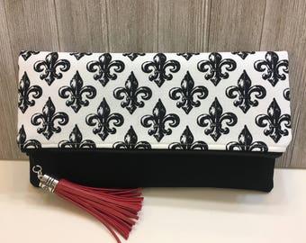 Nola Inspired Foldover - Envelope Clutch with tassel
