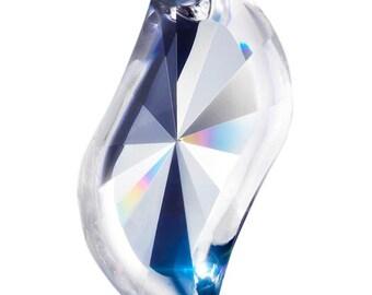 5 S-Shape 76mm Swirl Pendant Asfour Chandelier Crystal Prisms