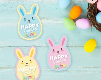 Happy easter tags, easter bunny tags, easter printables, easter tags, happy easter, easter gift tags, easter bunny