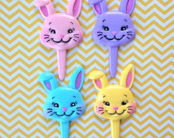 Puffy Bunny Cupcake Toppers (8)