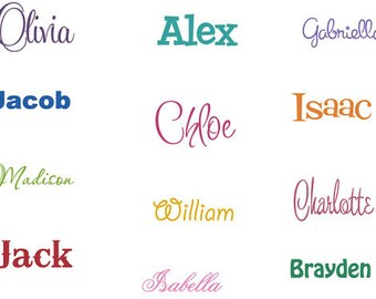 Personalized Name Decal, Wall Decal, Childrens Name Sticker, Vinyl Decals