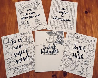 Coloring for adults - designs by hand.
