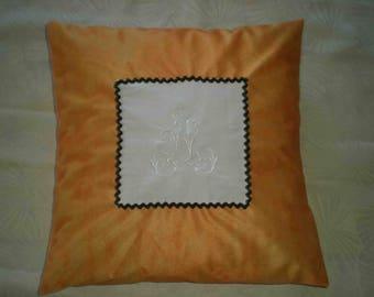 embroidered with your initial cushion