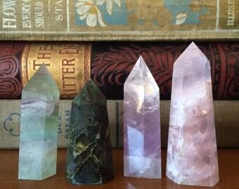 Rose quartz point.
