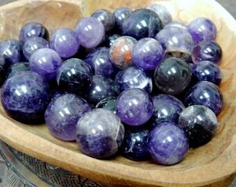 Amethyst Sphere Ball-- Round Amethyst Quartz Stone - Reiki - Metaphysical - Crafting - Crystal Grids  (RK163B5-01)