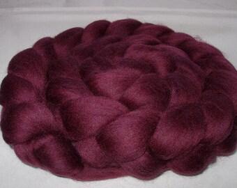 Merino roving, merino wool roving, merino spinning fiber, merino felting wool, 20 mic, dread wool, dreads,AUBERGINE PURPLE,100g,3.5oz