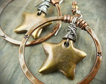 Lone Star State Mixed Metal Earrings