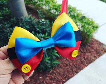 Pinocchio hair bow inspired