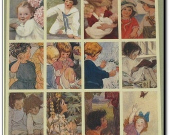 Moments of Childhood: Vintage Poster Book for the Nursery by Edelen Willie, NURSERY Shabby Chic Vintage Style Poster Prints Classic Art