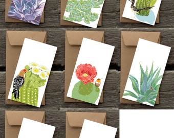BFCACTI: Birds in Gardens Assortment of Flat Panel Cards- Cacti and Succulents