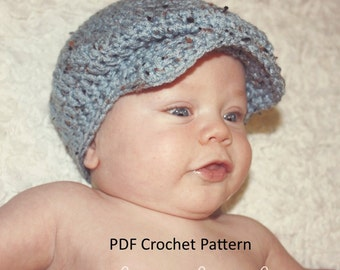 Instant Download Donegal Cap Crochet Pattern for Newborns to Adults