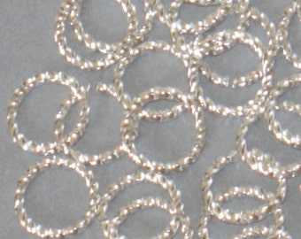 100 pcs of silver plated fancy jumpring 10mm round 16 gauge