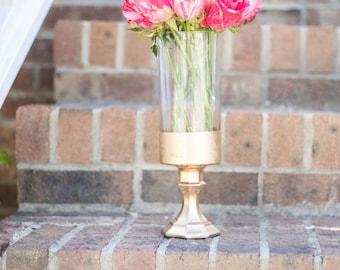 Gold Vase | Gold Dipped Vase | Gold Vase Centerpiece | Gold Wedding Decor | Gold Home Decor |Wedding Centerpiece | Metallic | Centerpiece