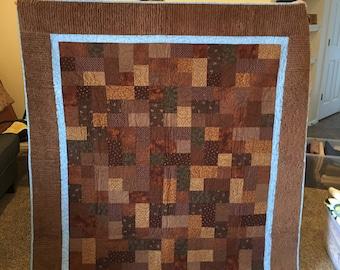 Brown Chenille Quilt